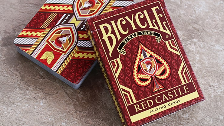Bicycle Red Castle Playing Cards - magic