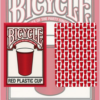 Bicycle Red Plastic Cup Playing Cards - magic