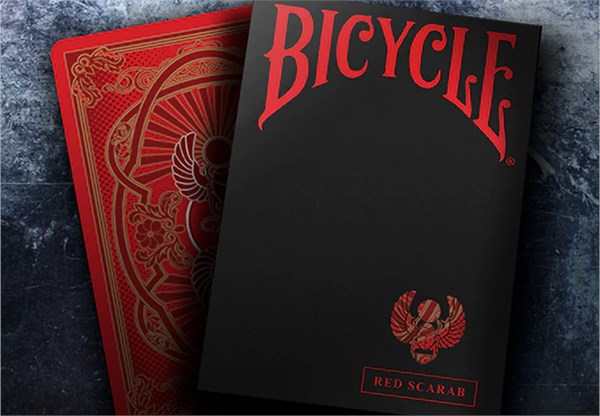 Bicycle Scarab (Red) Playing Cards - magic