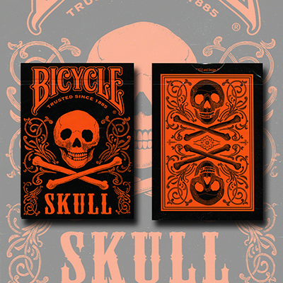 Bicycle Skull Metallic (Orange) - magic