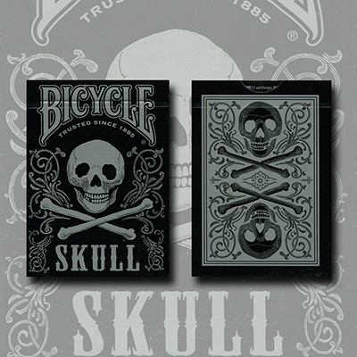 Bicycle Skull Metallic (Silver) - magic