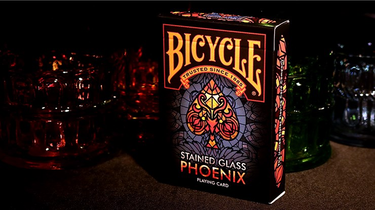 Bicycle Stained Glass Phoenix Playing Cards - magic