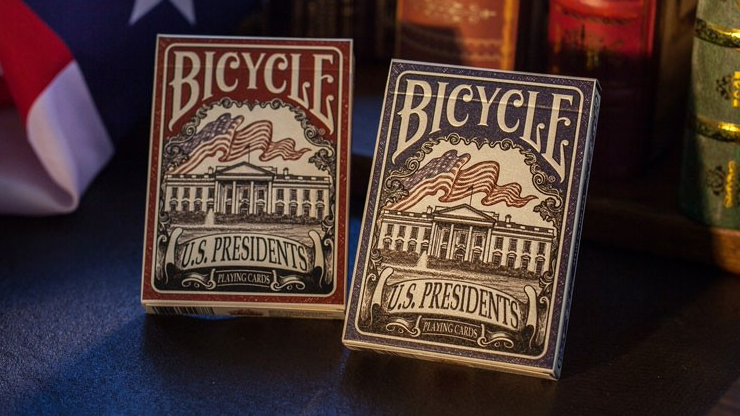Bicycle U.S. Presidents Playing Cards (Republican Red) - magic