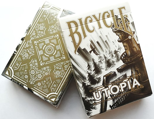 Bicycle Utopia Gold Playing Cards - magic