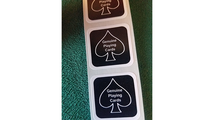 BLACK New Deck Stickers - magic