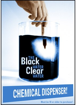Black Water Clear Water Dispenser - magic