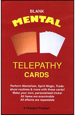 Blank Mental Telepathy Cards - magic