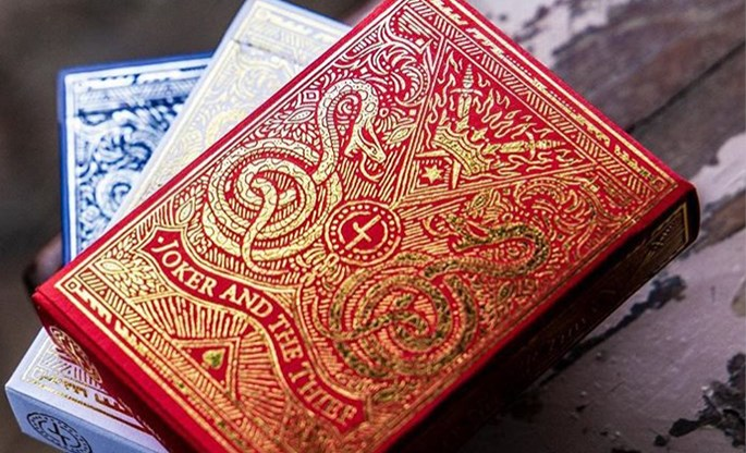 Blood Red Edition Playing Cards - magic
