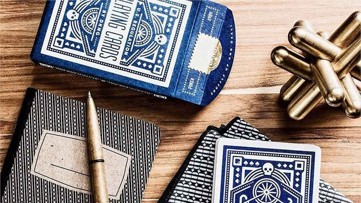 Blue Wheel Playing Cards - magic