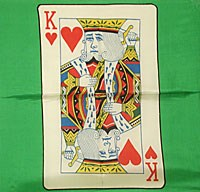 "Card Silk 18"" (King of Hearts) - magic"