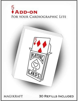 Cardiographic Lite RED CARD 5 of Diamonds Add-On - magic