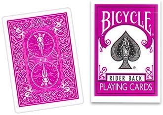 Bicycle Fuchsia Playing Cards - magic