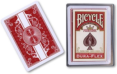 Bicycle Prestige Playing Cards - Red - magic