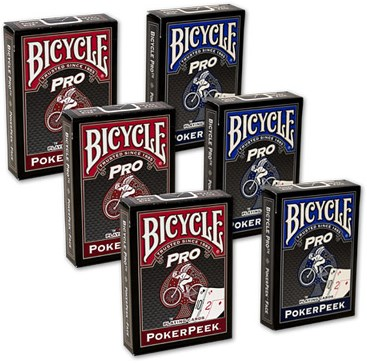 Bicycle Pro Poker Peek Playing Cards - 6 PACK  USPCC - magic