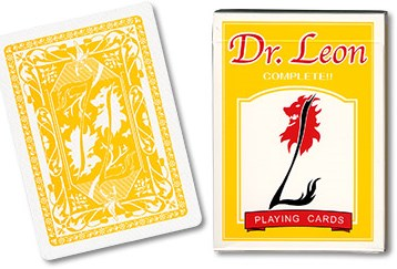 Dr. Leon Deck Playing Cards (Yellow) - magic