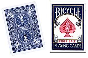 Cheek to Cheek Deck Bicycle (Blue) - magic