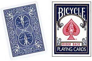 Cheek to Cheek Deck Bicycle (Blue) - magic