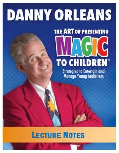 Children's Magic Lecture Notes - magic