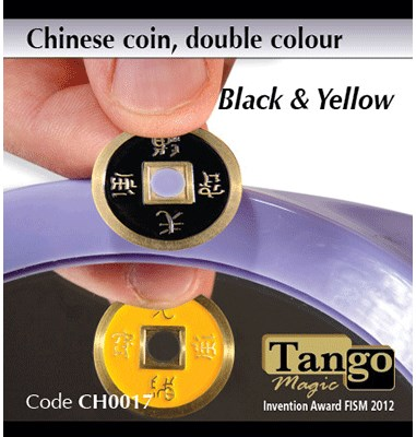 Chinese Coin  Black & Yellow - magic