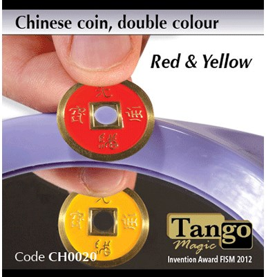Chinese Coin  Red & Yellow - magic