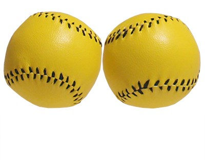 Chop Cup Balls - Large Yellow Leather - magic