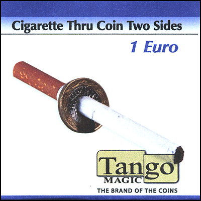 Cigarette thru Coin - 1 Euro - Premium - magic