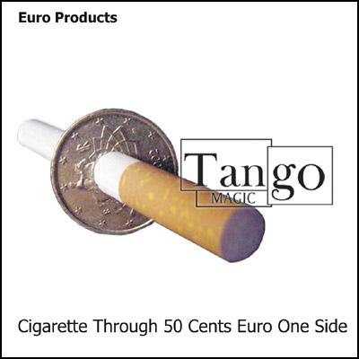 Cigarette thru Coin - 50 Euro Cents - magic