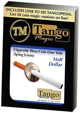Cigarette Through Half Dollar - magic