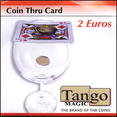 Coin thru Card - 2 Euro - magic