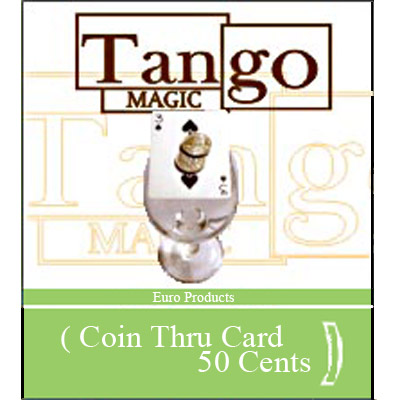 Coin thru Card - 50 Euro Cents - magic