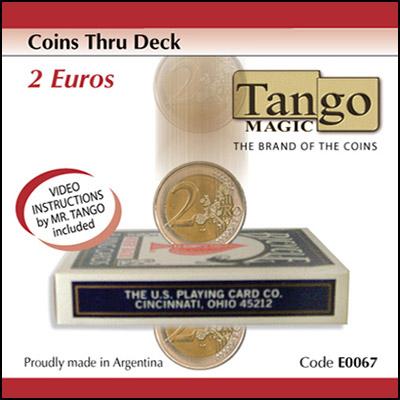 Coins thru Deck - 2 Euros - magic