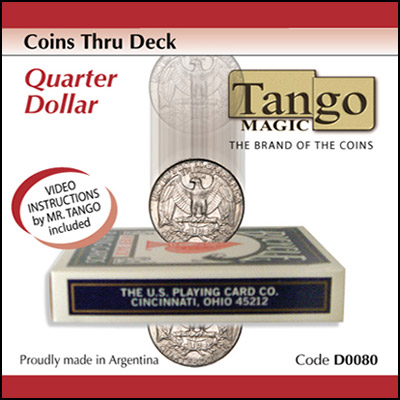 Coins thru Deck - Quarter Dollar - magic