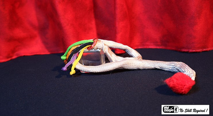 Color Changing Rope with Kicker Ending - magic