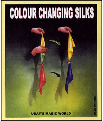 "Color Changing Silks 15"" - magic"