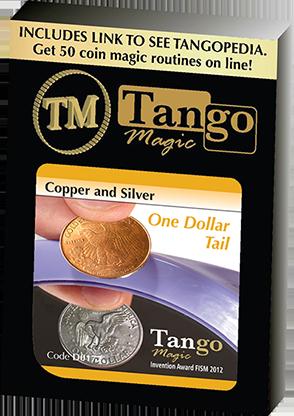 Copper and Silver Dollar - magic