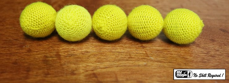 Crochet 5 Ball combo Set Yellow - magic