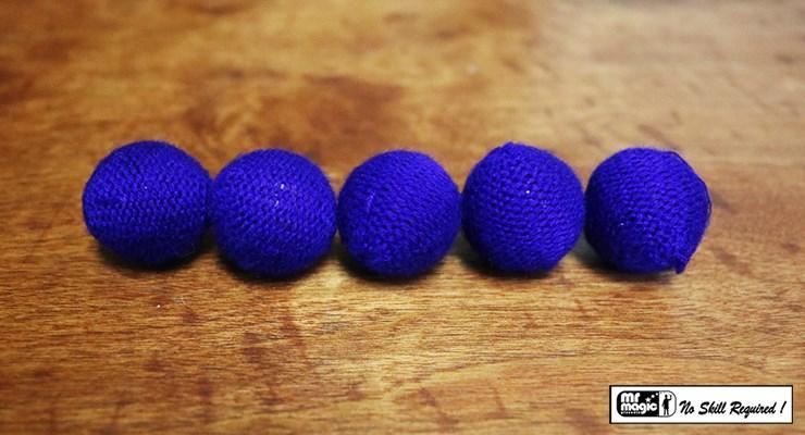 Crochet 5 Ball combo Set Blue - magic