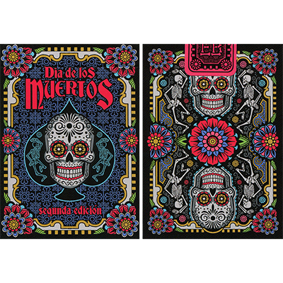 Dia de los Muertos Black Playing Card (2nd Edition) - magic