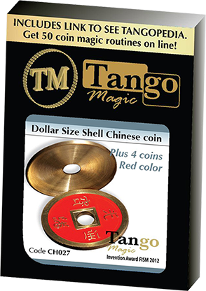 Dollar Size Shell Chinese Coin - magic