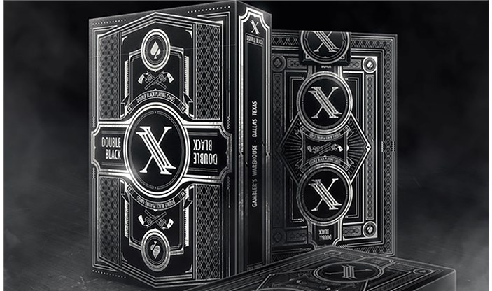 Double Black  Classic Edition Playing Cards - magic