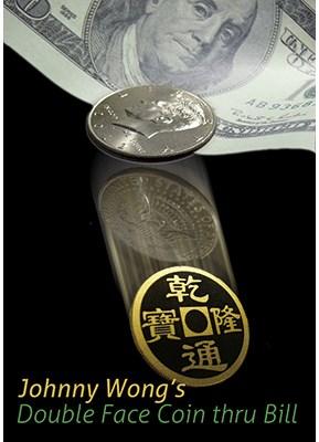 Double Face Coin Thru Bill - magic