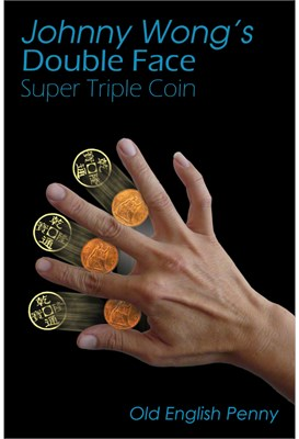 Double Face Super Triple Coin - Old English Penny - magic