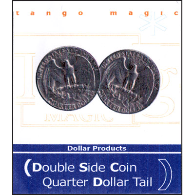 Double Sided - Quarter Dollar (tails) - magic