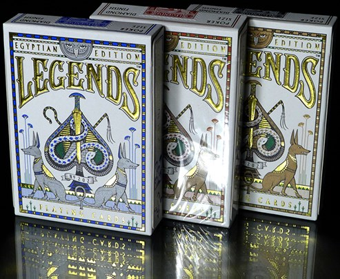 Egypt Legends Playing Cards (Blue) - magic