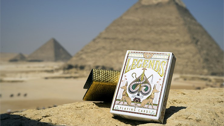 Egypt Legends Playing Cards (Red) - magic