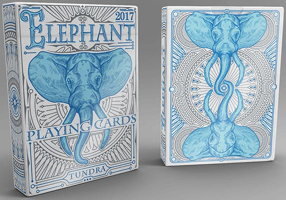 Elephant Playing Cards - Tundra - magic