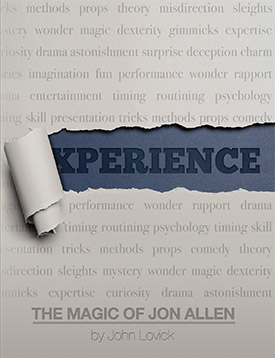Experience: The Magic of Jon Allen softback - magic
