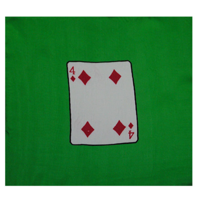 "Four of Diamonds 9"" Silk - magic"