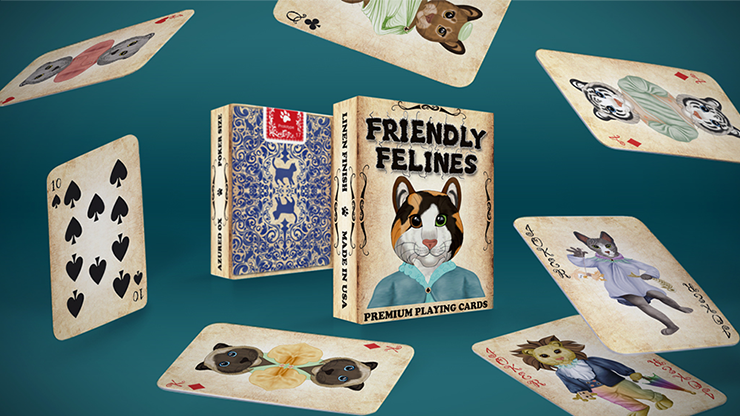 Friendly Feline Playing Cards - magic