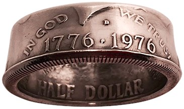 Genuine Half-Dollar RingBy Diamond Jim Tyler - magic